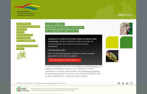 Vorschau von www.biostationen-nrw.com, Dachverband Biologische Stationen in NRW e.V.