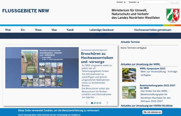Vorschau von www.ruhr.nrw.de, Flussgebiete in NRW, Arbeitsgebiet Ruhr
