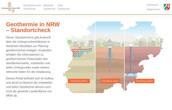 Vorschau von www.geothermie.nrw.de, Geothermie in NRW – Einsatz von Erdwärmesonden