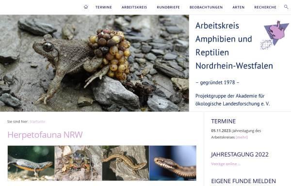 Vorschau von www.herpetofauna-nrw.de, Herpetofauna Nordrhein-Westfalen