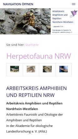Vorschau der mobilen Webseite www.herpetofauna-nrw.de, Herpetofauna Nordrhein-Westfalen