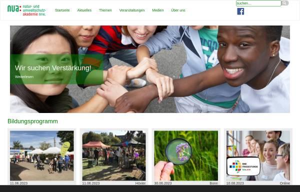 Vorschau von www.nua.nrw.de, Natur- und Umweltschutz-Akademie NRW (NUA)