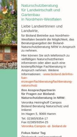 Vorschau der mobilen Webseite www.naturschutzberatung-nrw.de, Naturschutzberatung Nordrhein-Westfalen