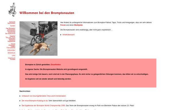 Vorschau von www.bromptonauten.de, Bromptonauten