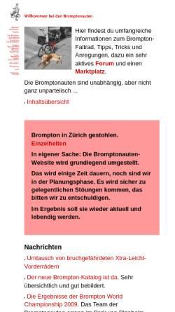 Vorschau der mobilen Webseite www.bromptonauten.de, Bromptonauten