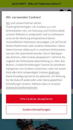 Vorschau der mobilen Webseite www.rad.de, Rad.de
