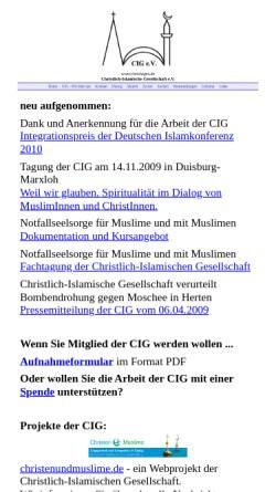 Vorschau der mobilen Webseite www.chrislages.de, Christlich-Islamische Gesellschaft e.V.