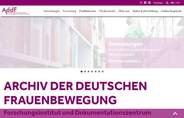 Vorschau von www.addf-kassel.de, Ariadne
