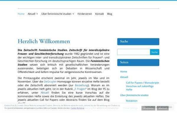 Vorschau von www.feministische-studien.de, Feministische Studien