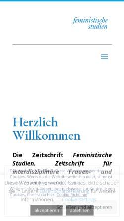 Vorschau der mobilen Webseite www.feministische-studien.de, Feministische Studien