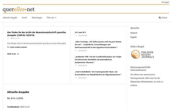Vorschau von www.querelles-net.de, Querelles-Net