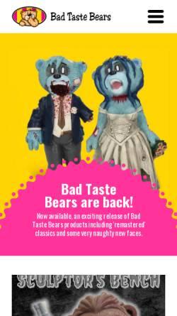 Vorschau der mobilen Webseite www.badtastebears.com, Bad Taste Bears