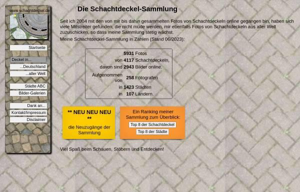 Vorschau von www.schachtdeckel.de, Schachtdeckel-Foto-Sammlung