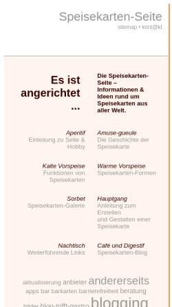 Vorschau der mobilen Webseite www.speisekarten-seite.de, Speisekarten-Seite