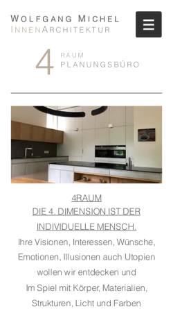 Vorschau der mobilen Webseite www.4raum.com, Michel, Wolfgang - 4Raum