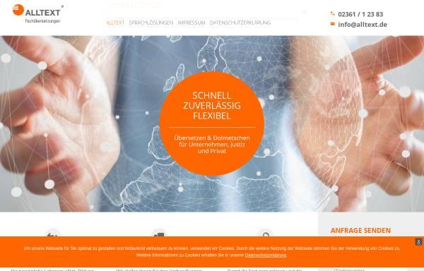 Vorschau von www.alltext.de, Alltext Fachübersetzungen GmbH