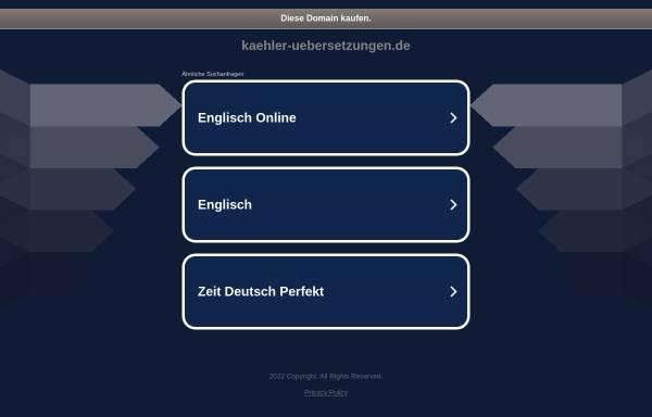 Vorschau von kaehler-uebersetzungen.de, Cornelia Kähler Fachübersetzungen