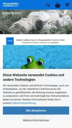 Vorschau der mobilen Webseite www.wasserbetten-centrum.de, Trend Wasserbetten GmbH