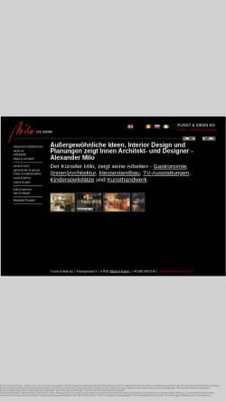 Vorschau der mobilen Webseite milo-innenarchitektur.com, Milo, Alexander