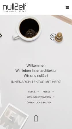 Vorschau der mobilen Webseite www.null2elf.de, null2elf Dischek Eitner GbR