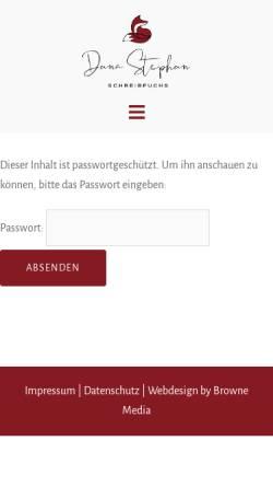 Vorschau der mobilen Webseite www.schreibfuchs.de, Schreib- und Übersetzungsbüro Röhling