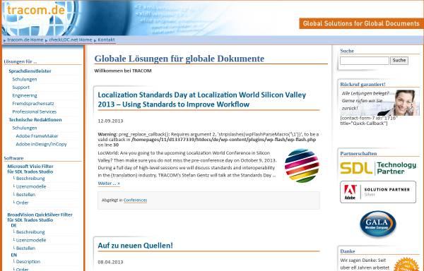 Vorschau von www.tracom.de, Tracom GbR