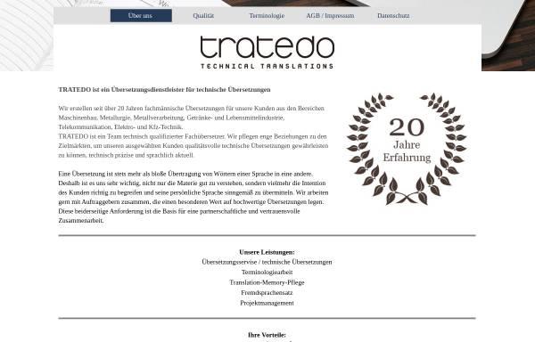 Vorschau von www.tratedo.com, Tratedo GmbH