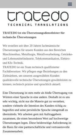 Vorschau der mobilen Webseite www.tratedo.com, Tratedo GmbH