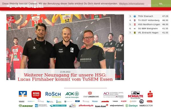 Vorschau von www.hsgnordhorn-lingen.de, HSG Nordhorn-Lingen
