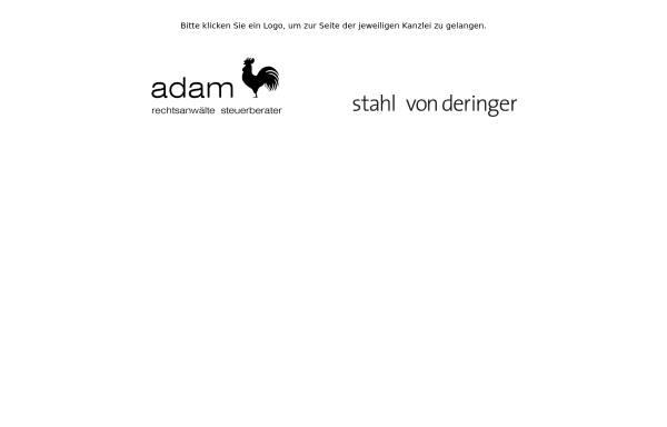 Vorschau von www.adam-fischer.com, Adamfischer Rechtsanwälte und Steuerberater.