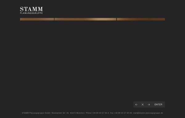 Vorschau von www.stamm-planungsgruppe.com, Stamm Planungsgruppe GmbH
