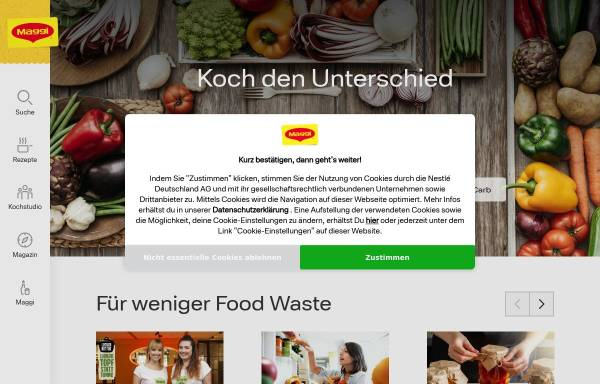 Vorschau von www.maggi.de, Maggi Kochstudio