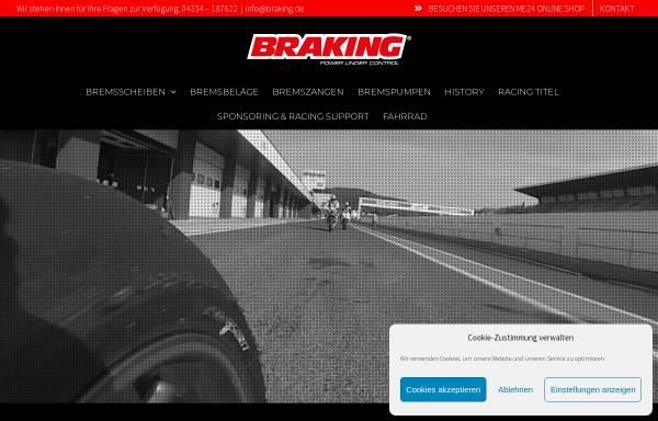Vorschau von www.braking.de, BRAKING Motorrad-Bremssysteme