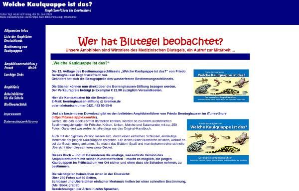 Vorschau von www.kaulquappe.de, Welche Kaulquappe ist das