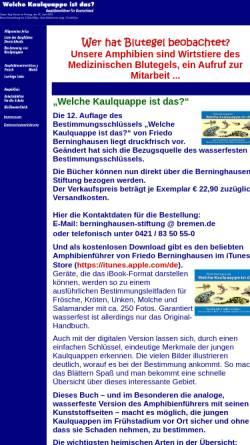 Vorschau der mobilen Webseite www.kaulquappe.de, Welche Kaulquappe ist das