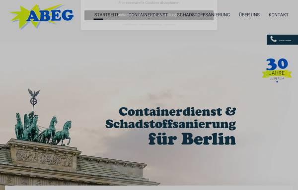 Vorschau von www.abeg-berlin.de, ABEG Abfallentsorgungsgesellschaft mbH