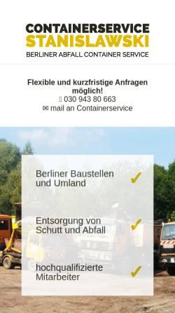 Vorschau der mobilen Webseite www.container-service.de, Mathias Stanislawski Container-Service