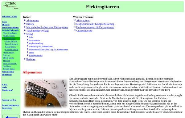 Vorschau von www.elektronikinfo.de, Elektrogitarren