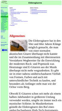 Vorschau der mobilen Webseite www.elektronikinfo.de, Elektrogitarren