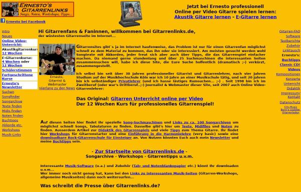 Vorschau von www.gitarrenlinks.de, Ernestos Gitarrenlinks