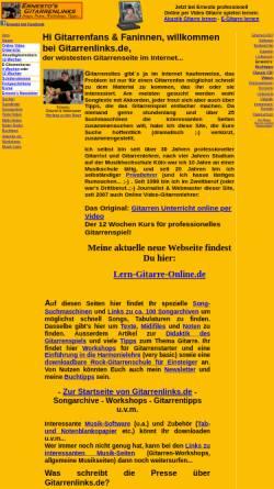 Vorschau der mobilen Webseite www.gitarrenlinks.de, Ernestos Gitarrenlinks