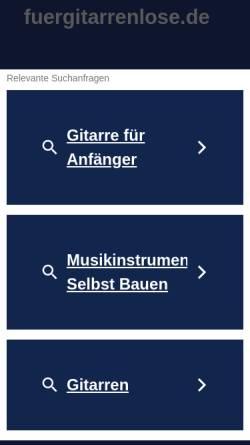Vorschau der mobilen Webseite www.fuergitarrenlose.de, Für Gitarrenlose