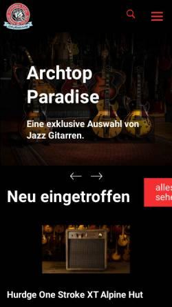 Vorschau der mobilen Webseite www.gitarrentotal.ch, Gitarren Total