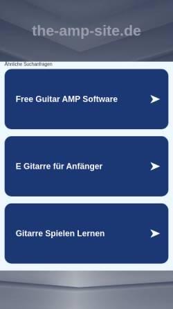 Vorschau der mobilen Webseite www.the-amp-site.de, Gitarrenverstärker