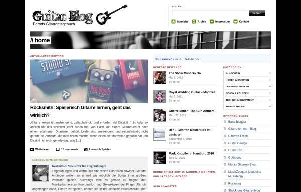 Vorschau von www.guitar-blog.de, Guitar Blog