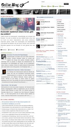 Vorschau der mobilen Webseite www.guitar-blog.de, Guitar Blog