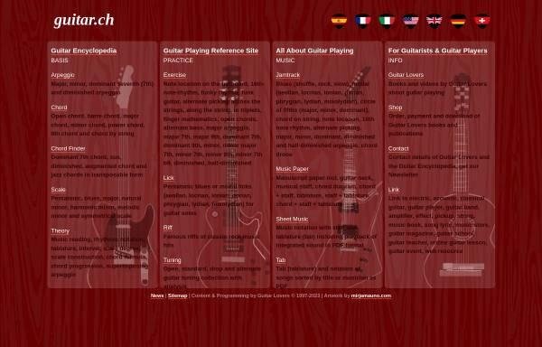 Vorschau von www.guitar.ch, Guitar Lovers