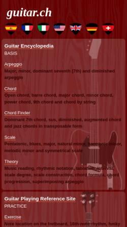 Vorschau der mobilen Webseite www.guitar.ch, Guitar Lovers