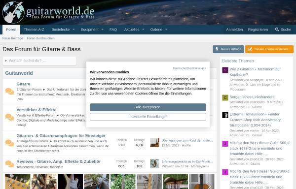 Vorschau von www.guitarworld.de, Guitarworld - Das Forum für Gitarre und Bass