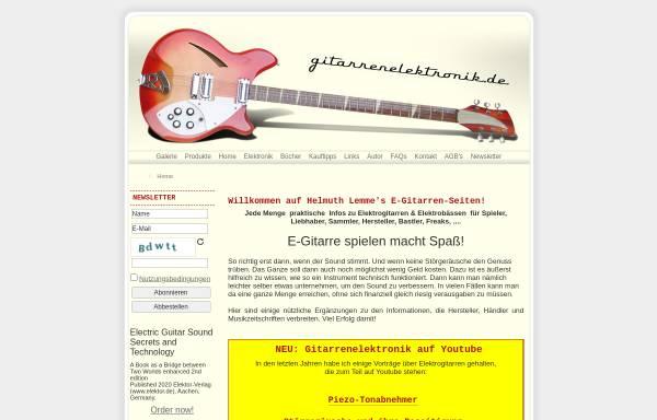 Vorschau von www.gitarrenelektronik.de, Helmuth Lemme's E-Gitarren-Seiten